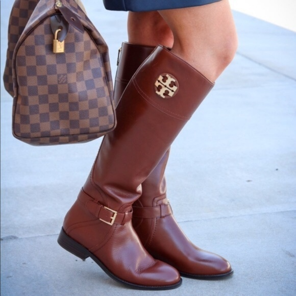 9f831360d586 NIB Tory Burch Adeline Almond Riding Tall Boot
